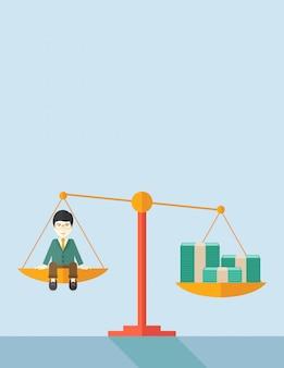 Японский бизнесмен по шкале баланса