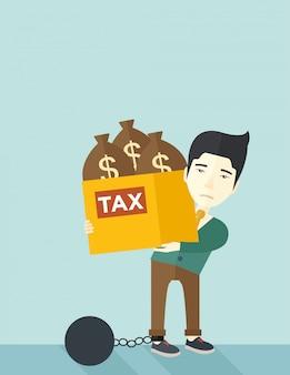 借金でロックされている中国の実業家