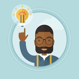 ビジネスアイデアを持つ実業家