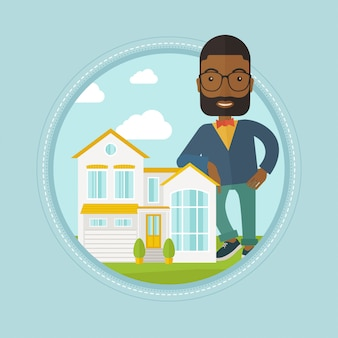 Агент по недвижимости предлагает дом