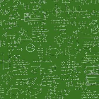 黒板の数式。
