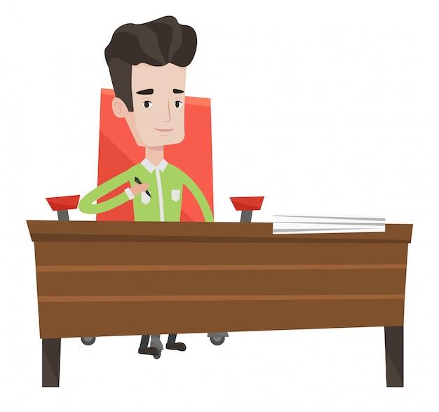 Подписание бизнес контракта иллюстрации.