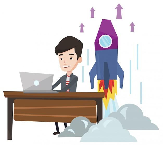 Бизнес начать иллюстрации.