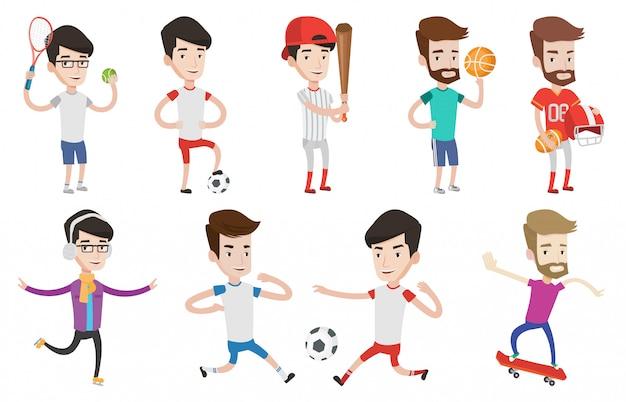 スポーツ文字のベクトルを設定します。