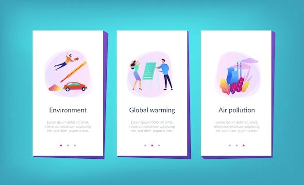 Шаблон интерфейса приложения глобального потепления.