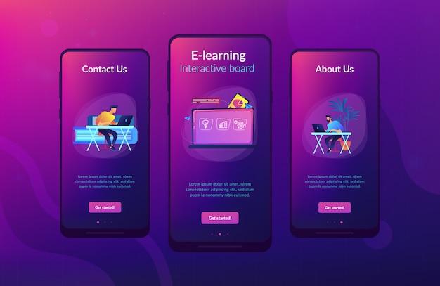 デジタル学習アプリのインターフェイステンプレート。