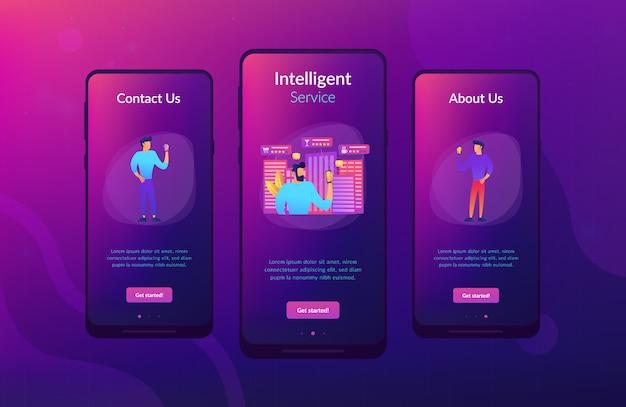Интеллектуальные услуги в умном городе шаблон интерфейса приложения.