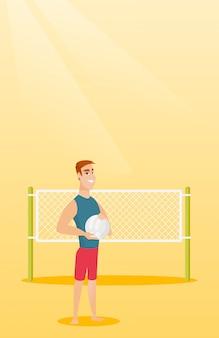 Молодой кавказский волейболист