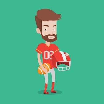 ラグビープレーヤーのベクトル図です。