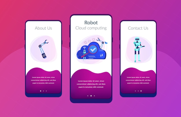 Шаблон интерфейса приложения облачной робототехники.