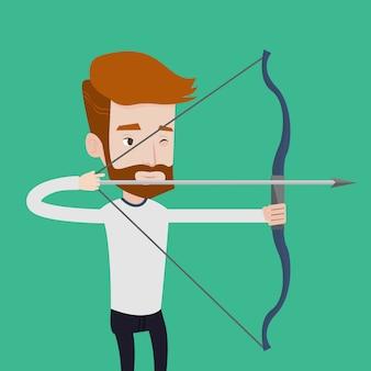 アーチャーの弓ベクトル図とトレーニング。