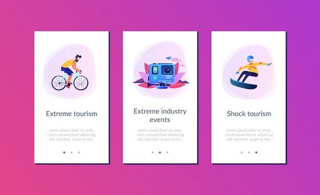 Шаблон интерфейса приложения экстремального туризма.