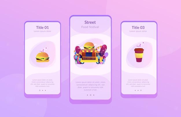 Шаблон интерфейса приложения фестиваля еды.