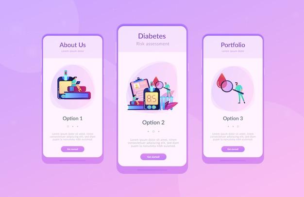 Шаблон интерфейса приложения сахарный диабет.
