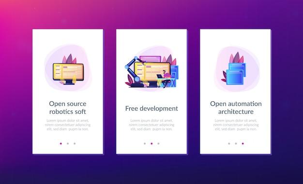 Шаблон интерфейса приложения открытой архитектуры автоматизации.