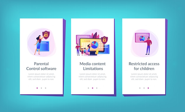 Шаблон интерфейса приложения для родительского контроля.