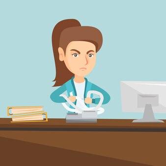 Злой бухгалтер срывает счета или счета.