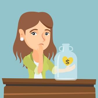 Кавказский сломал женщину, глядя на пустой денежный ящик.