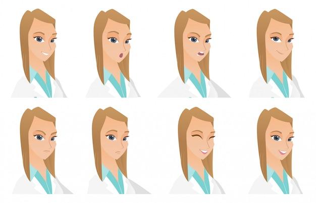 医者の文字のセット