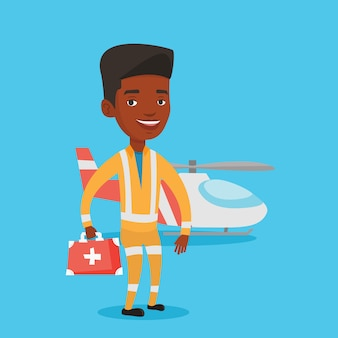 Доктор воздушной скорой помощи векторные иллюстрации.