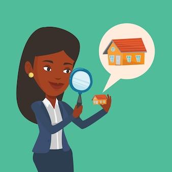 Женщина ищет дом