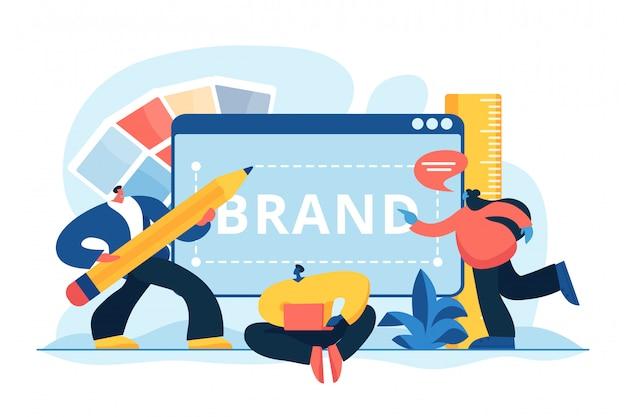 Концепция идентичности бренда векторная иллюстрация