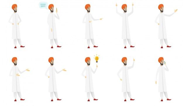 イスラム教徒の実業家セット