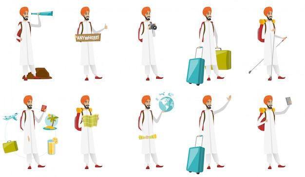 イスラム教徒の旅行者セット