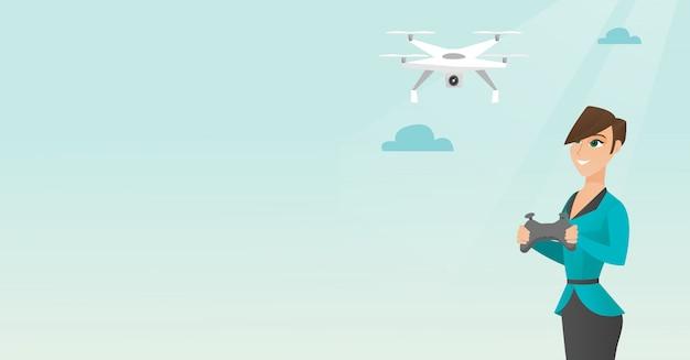 Молодой кавказский летающий дрон