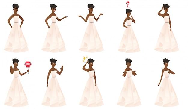 花嫁のキャラクターとのセット。