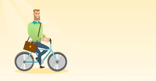 男乗馬自転車