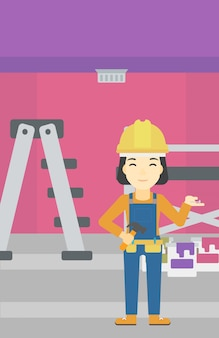 Веселый ремонтник инженер.