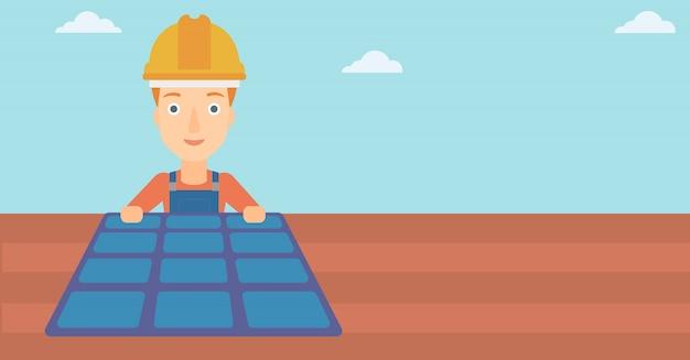 Конструктор с солнечной панелью.