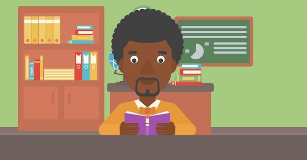 本を読んでいる人。