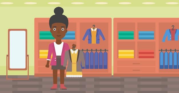 ジャケットの女性持株ドレス。