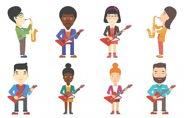 ミュージシャンの文字のベクトルを設定します。