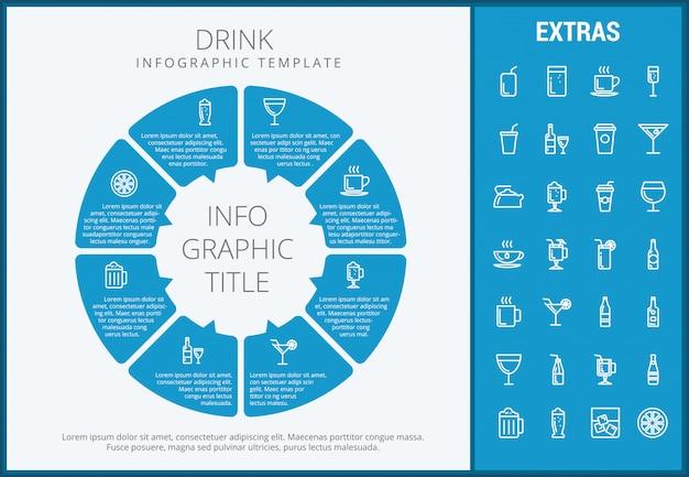 Пейте инфографики шаблон, элементы и значки