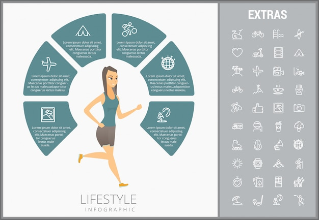 Образ жизни инфографики шаблон, элементы и значки