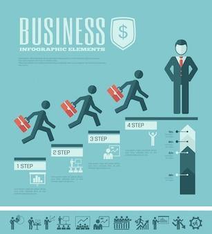 ビジネスインフォグラフィックテンプレート。