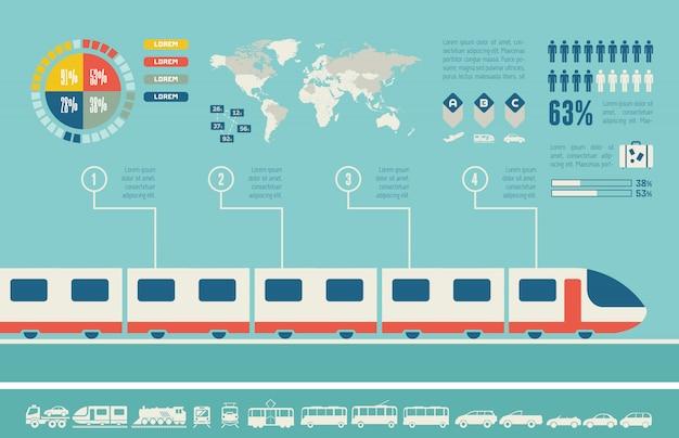 Транспорт инфографики шаблон.
