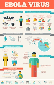Шаблон медицинской инфографики.