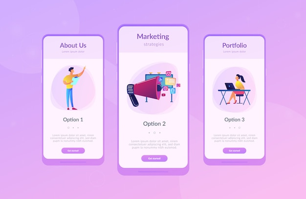 マーケティングアプリのインターフェーステンプレート