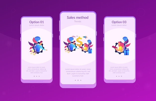 パーソナライズされた販売アプリのインターフェーステンプレート