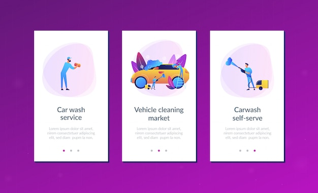 Шаблон интерфейса приложения сервиса автомойки