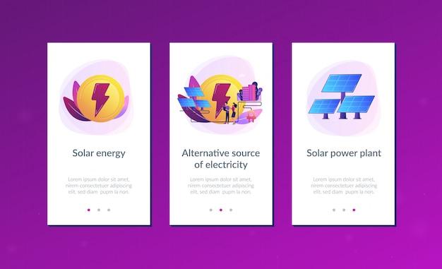 Шаблон интерфейса приложения солнечной энергии.