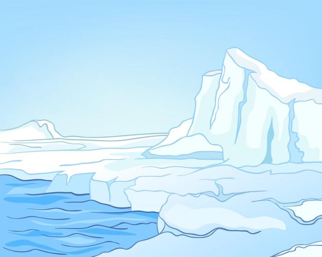 漫画自然風景北極