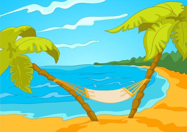 Мультфильм пляж