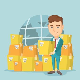 国際配送サービスのビジネスワーカー。