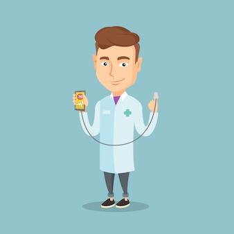 心臓パルスを測定するための医師表示アプリ。