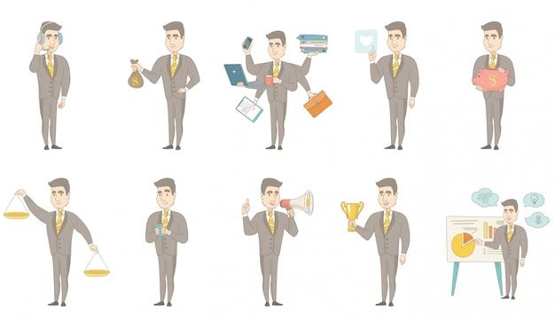 Кавказский бизнесмен набор символов